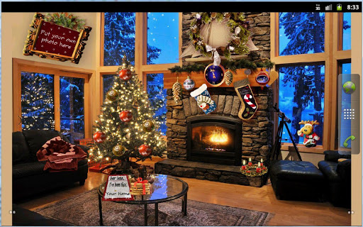 Christmas Fireplace LWP Full screenshot 4