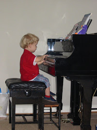 Ethan Age 3 At the Piano