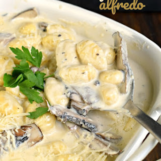Gnocchi Alfredo with Portobello Mushrooms.