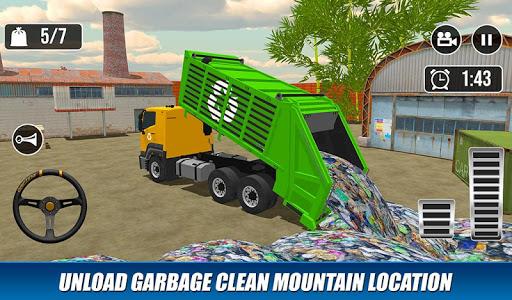 Offroad Garbage Truck: Dump Truck Driving Games apktram screenshots 7