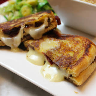 Cran-Raspberry Brie Grilled Cheese Sandwiches.