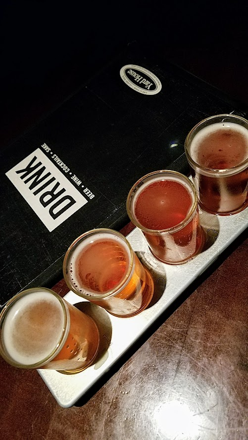 Yard House Portland offers 130 taps with a keg room holding over 5000 gallons of beer. You can order beer in multiple sizes, including putting together your own sampler tray