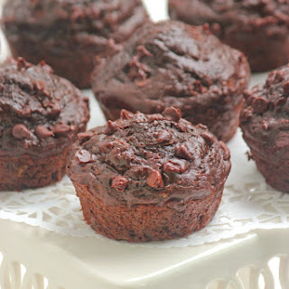 Double Chocolate Yellow Squash Muffins