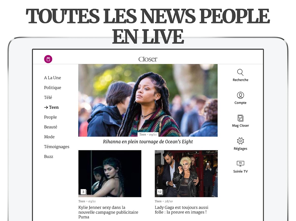 Closer - Actu People & News TV- screenshot