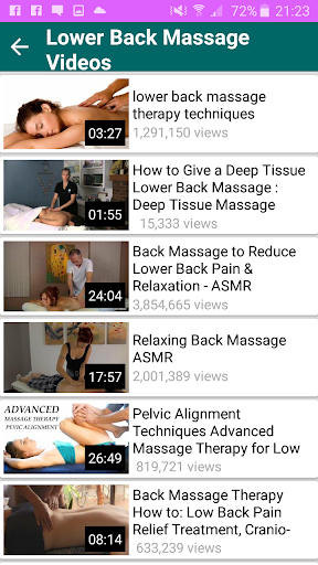 Massage Videos App 1.1 screenshots 5