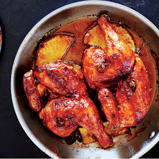 Pan-Roasted Chicken with Pineapple-Chile Glaze