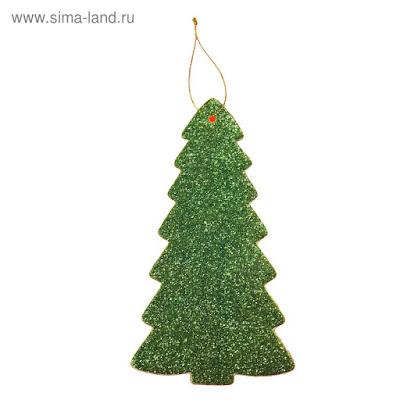 """Основа для творчества и декора - подвеска """"Ёлочка"""", набор 6 шт., цвет зелёный"""