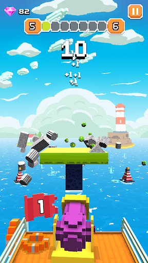 Blocky Tower - Knock Box Balls Ultimate Knock Out android2mod screenshots 5
