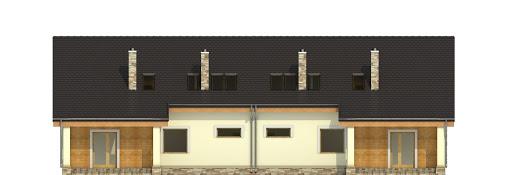 Alka II z garażem 1-st. bliźniak A-BL1 - Elewacja tylna
