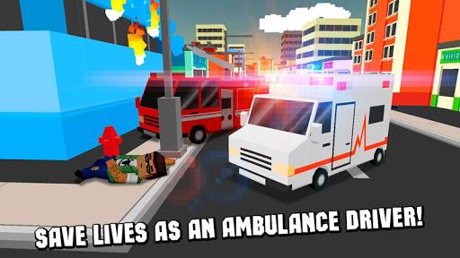 キューブ救急車シミュレータ3D