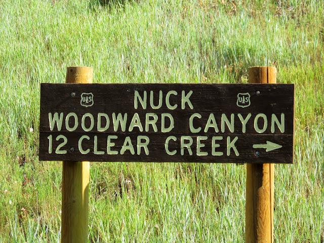Nuck Woodward Canyon sign