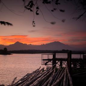 After Sunset by Nugroho Kristanto - Landscapes Sunsets & Sunrises ( bamboo, sunrise, sunset, landscape, slow shutter )