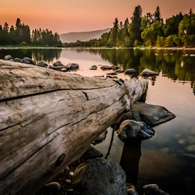 Smokey Spokane  by Anthony Balzarini - Landscapes Waterscapes ( #fire#, #smokey, #air, #river#photography, #river, #spokane,  )