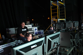 Photo: A view of the crew backstage.