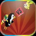 Penguin fly fun game icon