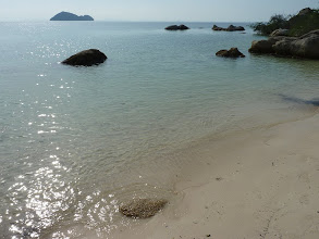 Photo: Ko Phangan - minibeach at southwest of island, we parked our motobikes and main road and found them with stolen mirrors, but beach was small, private and nice, water much cleaner than yesterday at Baan Tai