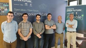 El equipo  de iArchiva en las instalaciones de El Cable.