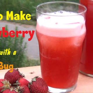 Strawberry Soda Using A Ginger Bug.