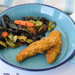 Paleo Plantain Crusted Chicken Strips.