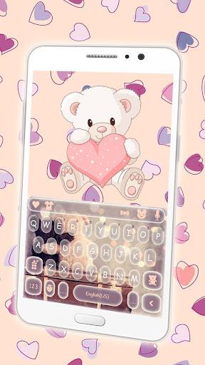 Cute Bear Keyboard Theme ss1