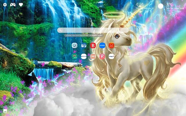 Unicorn Rainbow Wallpapers Hd New Tab Theme