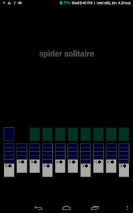 A 389KB Spider Solitaire Game- screenshot thumbnail