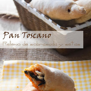 Tuscan Bread Stuffed with Spicy Sausage and Mushrooms.