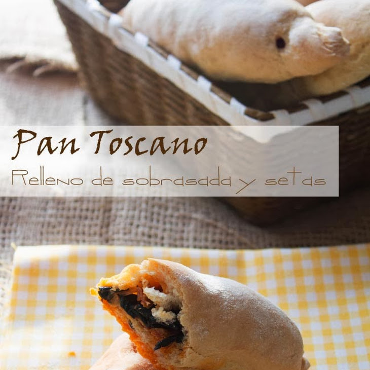 Tuscan Bread Stuffed with Spicy Sausage and Mushrooms