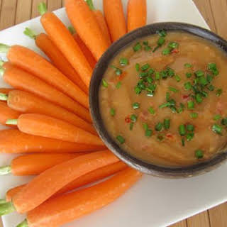 Smooth and Creamy Carrot Dip with Tahini.