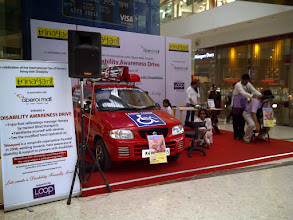 Photo: Disability Awareness Drive celebrating World Disability Day 2011 held in Oberoi Mall.