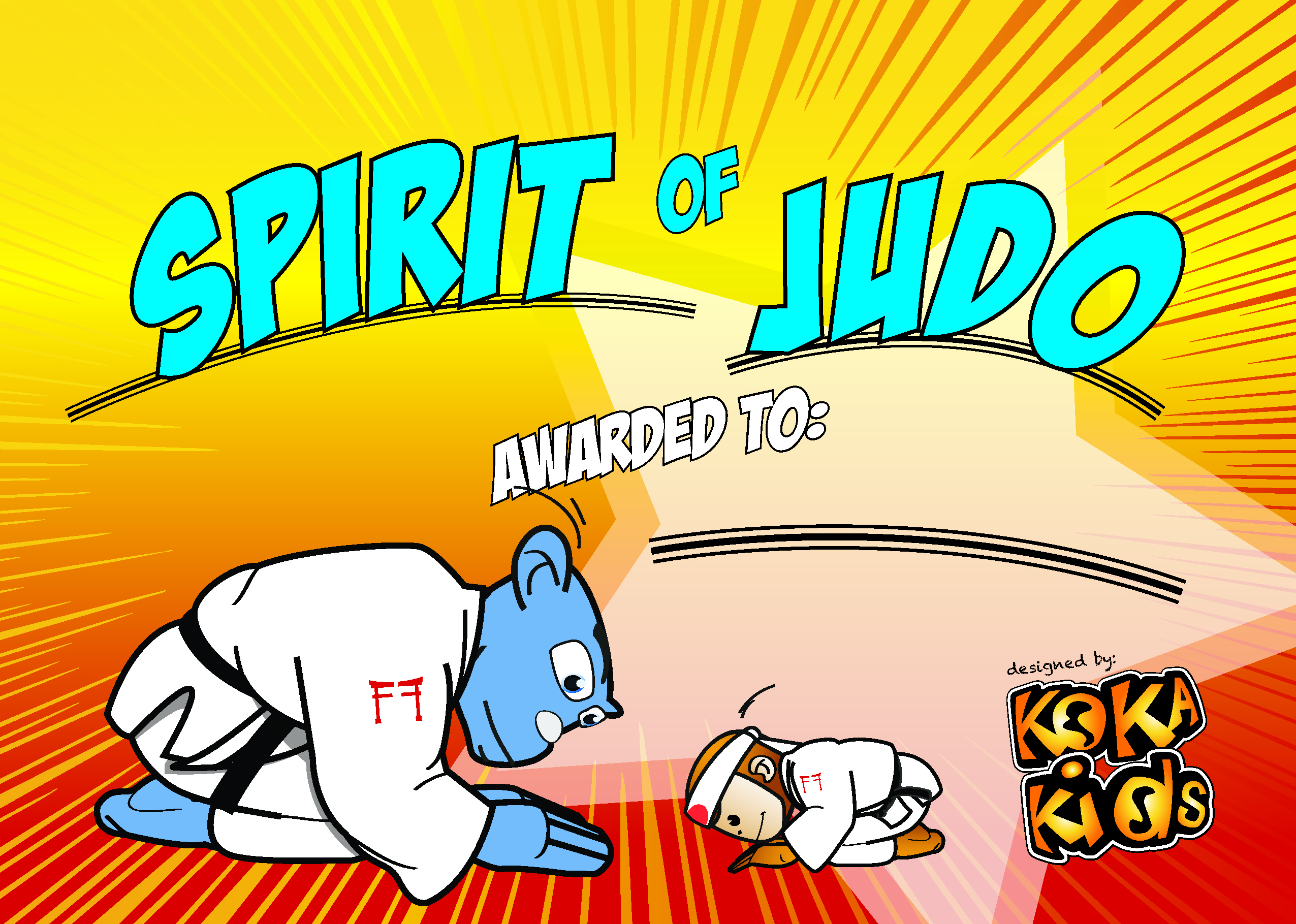 Free Download: Spirit of Judo Certificate