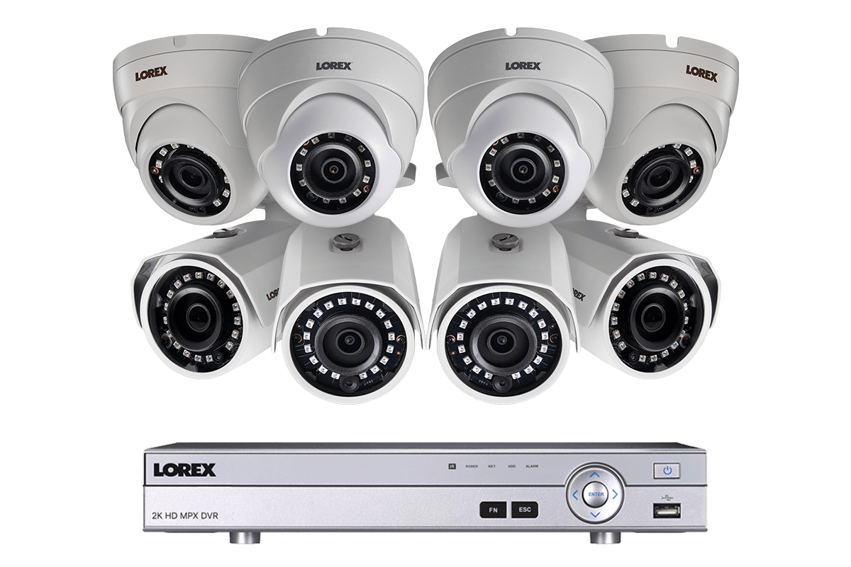New Lorex 8 Channel 8 Metal Outdoor Camera 4MP 2K HD Security ...