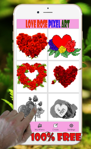 Sweet Love Rose Pixel Art-Coloring By Number ss2