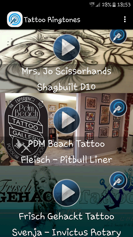 Tattoo Ringtones - Free- screenshot