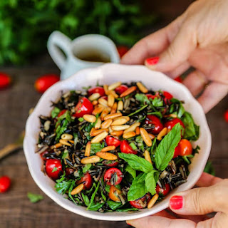 Wild Rice Herb Salad with Orange Vinaigrette