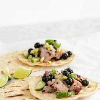 Blueberry Pork Corn Tacos