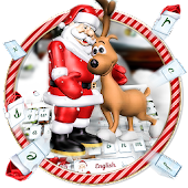 Merry Christmas theme keyboard with Santa Claus