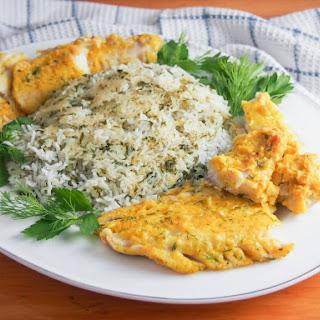 Persian Herb Rice With Fish - Sabzi Polow Mahi.