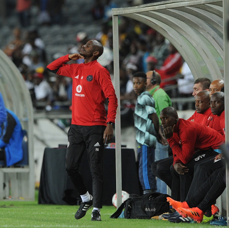 Rhulani Mokwena assistant coach of Orlando Pirates during the Absa Premiership match between Orlando Pirates and Mamelodi Sundowns on 01 November 2017 at Orlando Stadium.