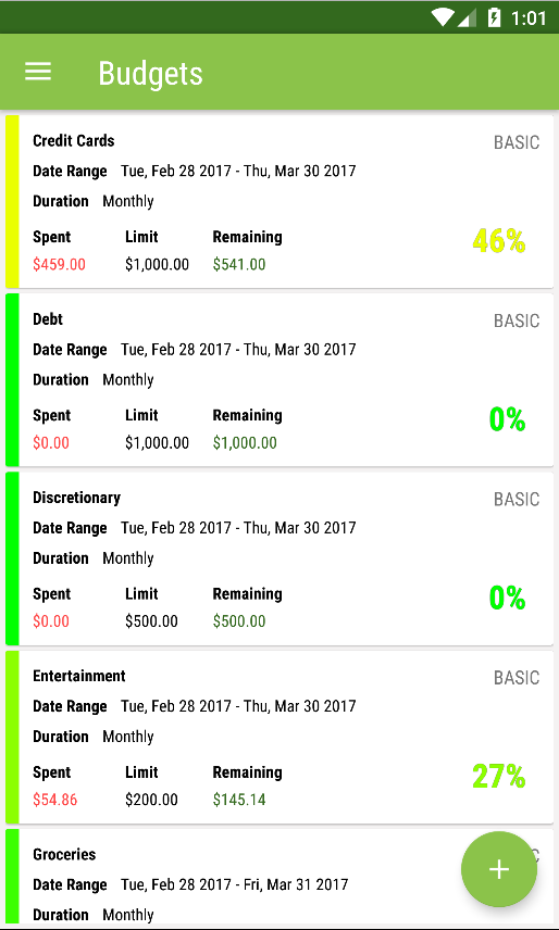 ClearCheckbook MoneyManagement- screenshot