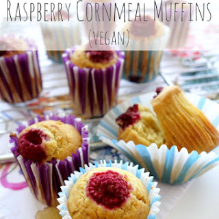 Vegan Raspberry Cornmeal Muffins
