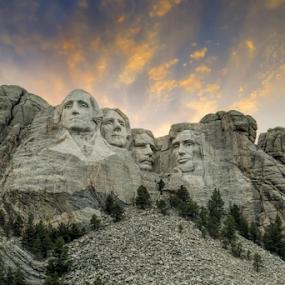 Rushmore by Christopher Pischel - Landscapes Travel ( black hills, presidents, mountain, mount rushmore, symbolic, south dakota, tourism, travel, landmark, sculpture, shrine, monument, historical, democracy )