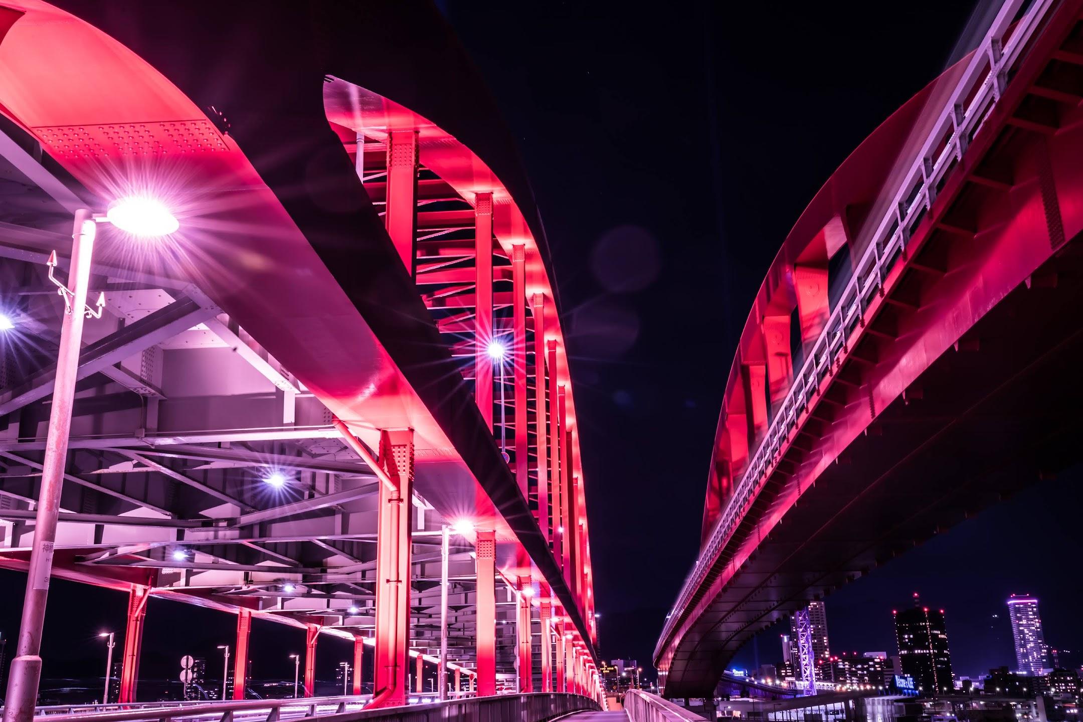 Kobe Great Bridge night1
