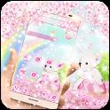Pink Bear Flower Theme icon