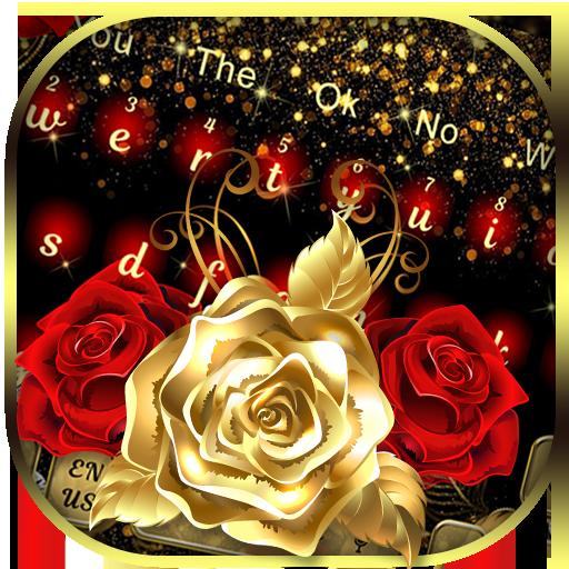Red Gold Rose Gravity Keyboard