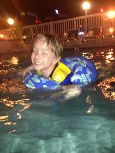 Photo: Sam in pool last weekend of June 22013