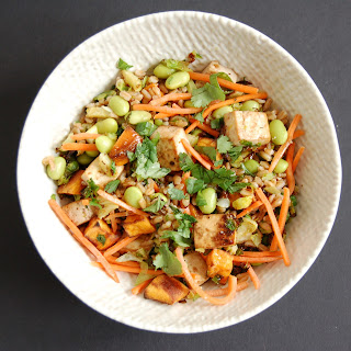 Asian-Style Farro Buddha Bowl with Crispy Baked Tofu