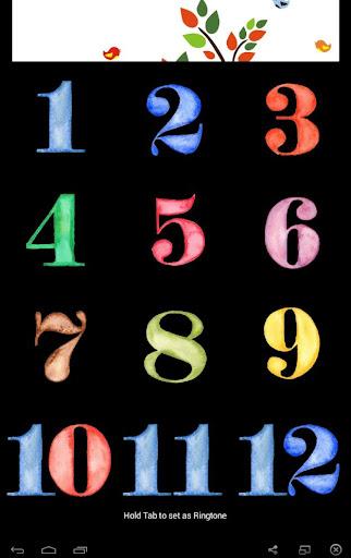 arabic number memory board