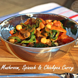Mushroom, Spinach & Chickpea Curry.