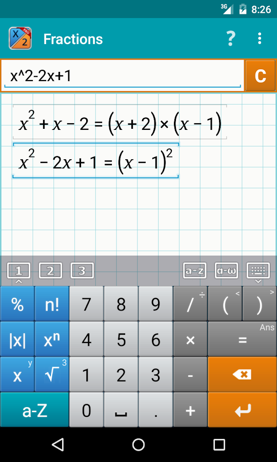 Fraction Calculator MathlabPRO- screenshot